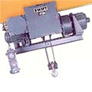 Hoists  for use in highly inflammable areas.